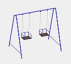 Качели двухместные на цепях, для всей семьи., фото 2