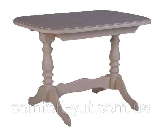 Стол Аврора обеденный раскладной деревянный 101(+35)*69 бежевый