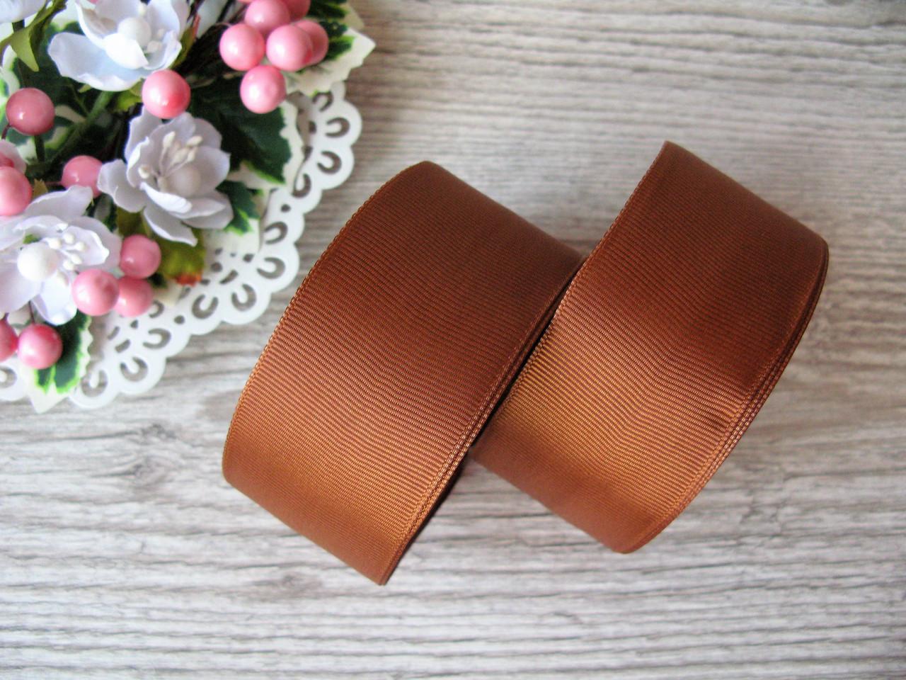 Лента репсовая, на метраж, ширина 4 см, цвет коричневый, 4 грн за метр.