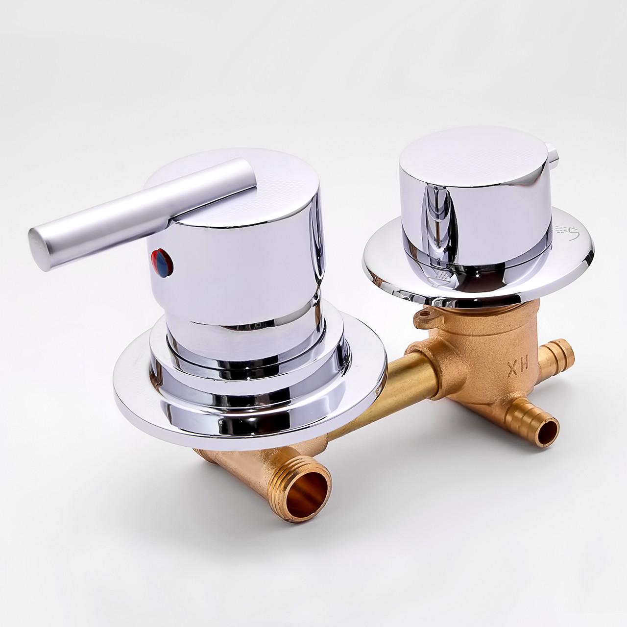 Змішувач для душової кабіни, гідробоксу S3 - 90 на 3 положення.