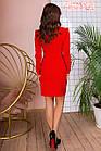 Платье с поясом NOBILITAS 42 - 48 красное костюмная ткань (арт. 20004/2), фото 3