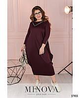 Очаровательное платье батал в стиле бохо в 3-х цветах с 50 по 58