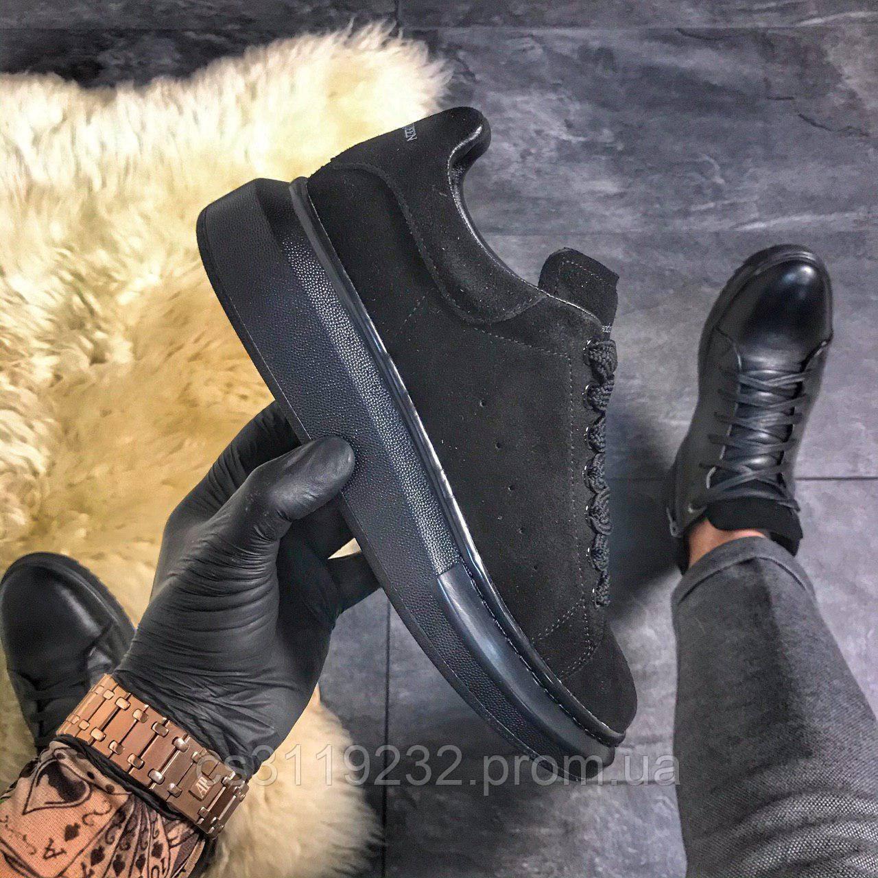 Жіночі замшеві кросівки Triple Black Suede (чорні)