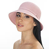 Бежевая летняя шляпа с небольшими полями, фото 2