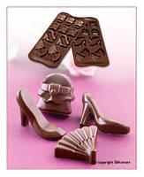 "Форма для шоколада ""Мода"" 41*30 мм h 12 мм Silikomart"