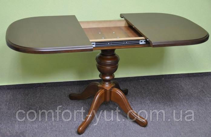 Стол Эмиль обеденный раскладной деревянный 105(+38)*74 венге - фото 3