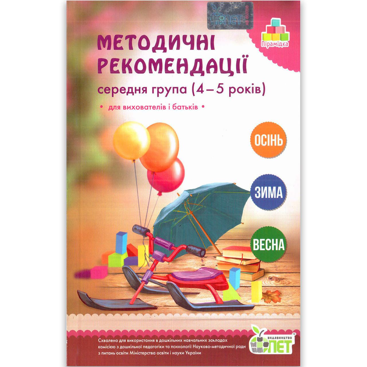 Методичні рекомендації до Зошита дошкільника Середня група 4-5 років Авт: Остапенко А. Вид: ПЕТ