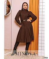 Платье №758Б-коричневый