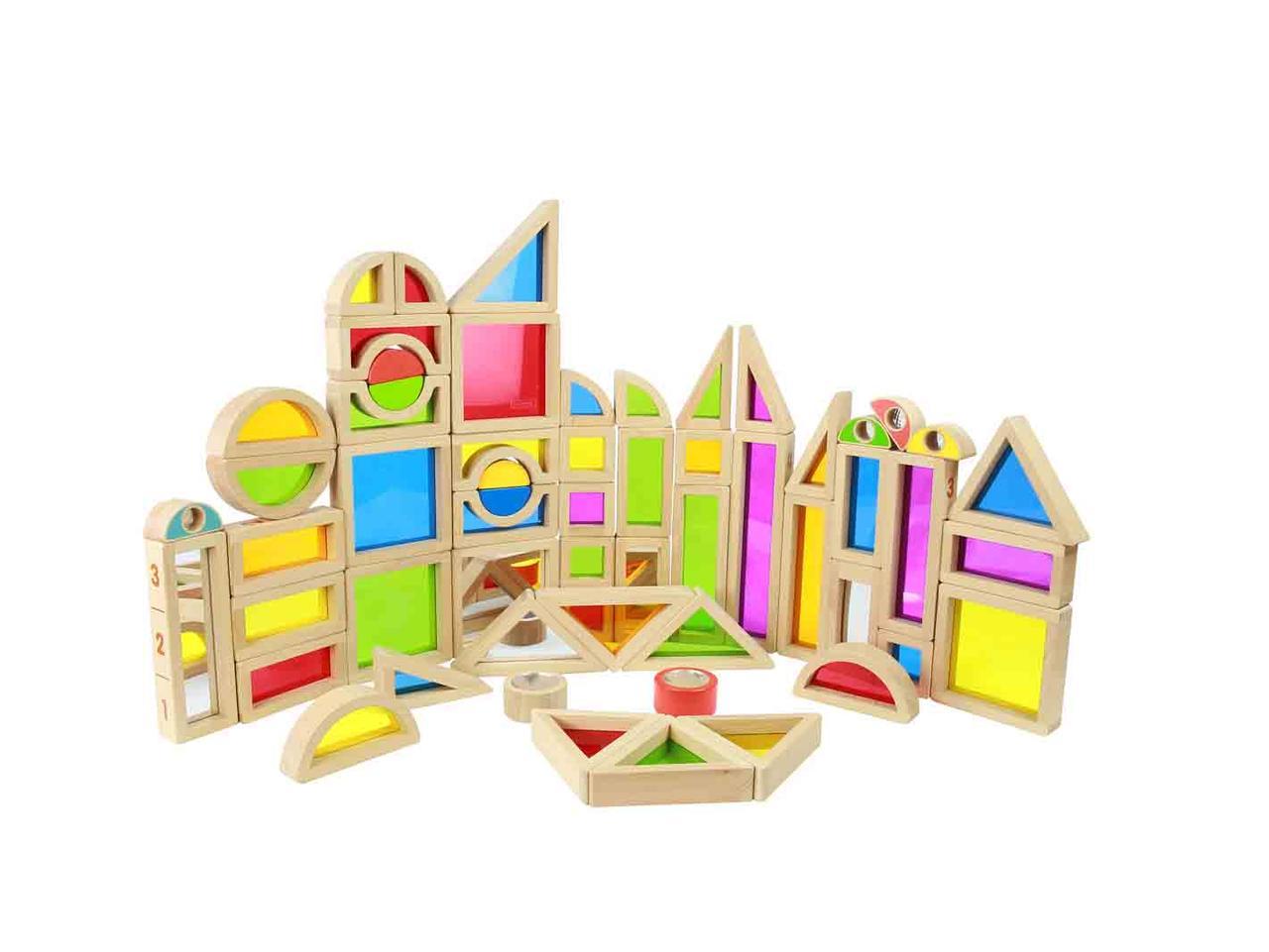 Игровой набор цветных блоков 58 штук Masterkidz ME09739