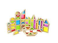 Игровой набор цветных блоков 58 штук Masterkidz ME09739, фото 1