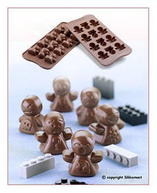"Форма для шоколада ""Настроение"" 33*34 мм h 17 мм Silikomart"