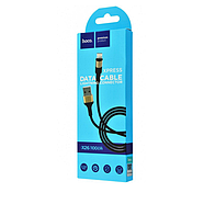 Кабель Hoco X26 Xpress charging data cable for Lightning Black&Gold, фото 2