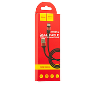 Кабель Hoco Xpress X26 charging data cable for Type-C Black&Red, фото 2