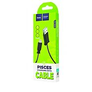Кабель Hoco X24 Pisces charging data cable for Lightning Black, фото 2
