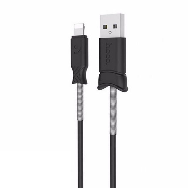 Кабель Hoco X24 Pisces charging data cable for Lightning Black