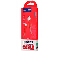 Кабель Hoco X24 Pisces charging data cable for Lightning Red, фото 2