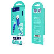 Кабель Hoco X24 Pisces charging data cable for Type-C Blue, фото 2