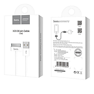Кабель Hoco X23 Skilled 30 pin charging data cable White, фото 2