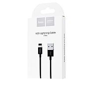 Кабель Hoco X23 Skilled lightning charging data cable Black, фото 2