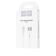 Кабель Hoco X23 Skilled lightning charging data cable White, фото 2