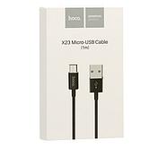 Кабель Hoco X23 Skilled Micro charging data cable Black, фото 2