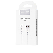 Кабель Hoco X23 Skilled Type-c charging data cable White, фото 2
