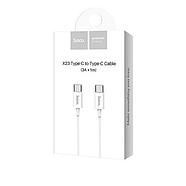 Кабель Hoco X23 Skilled type-c to type-c charging data cable White, фото 2