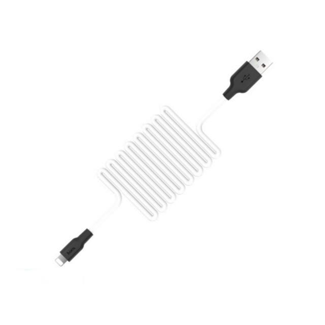 Кабель Hoco X21 Silicone Lightning charging cable Black&White