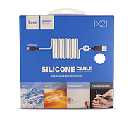Кабель Hoco X21 Silicone Lightning charging cable Black&White, фото 2