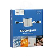 Кабель Hoco X21 Silicone Micro charging cable Black&White, фото 2