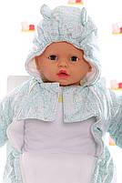 Демисезонный комбинезон для новорожденного (0-6 месяцев) Мятный лабиринт, фото 2