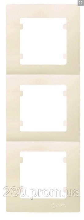 Рамка 3-я вертикальная крем LILLIUM natural KARE