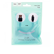 Кабель Hoco X13 Easy charged Micro charging cable,(L-1M) Black, фото 2