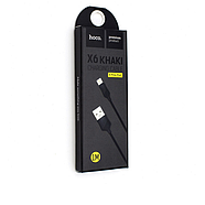 Кабель Hoco X6 khaki Lightning charging cable Black, фото 2