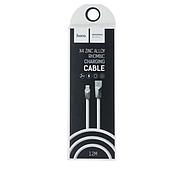 Кабель Hoco X4 Zinc Alloy rhombus Lightning Charging Cable White, фото 2