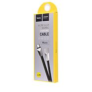 Кабель Hoco X4 Zinc Alloy rhombus Micro USB Charging Cable Black, фото 2