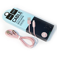 Кабель Hoco X2 knitted Lightning Charging cable Rose gold, фото 2