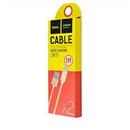 Кабель Hoco X2 knitted Type-C Charging cable Gold, фото 2