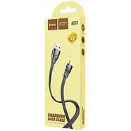 Кабель Hoco U57 Twisting charging data cable for Micro Black, фото 2