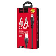 Кабель Hoco U53 4A Flash charging data cable for Micro Black, фото 2