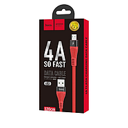 Кабель Hoco U53 4A Flash charging data cable for Micro Red, фото 2