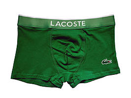 Мужские трусы Lacoste логотип термонакатка зелёные размер L