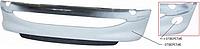 Передний бампер Peugeot 206 98-09, под покраску, со спойлером, без отверстий птф (FPS) 7401N1