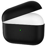 Ультратонкий силиконовый чехол Candy Slim для Apple Airpods Pro (black)