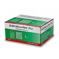 Шприц инъекционный инсулин.стер. однораз, BD MF +, 1,0 мл, U-100, игла 29G (12,7мм) (Упак10шт) №1, шт