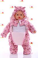 Демисезонный комбинезон для новорожденного (0-6 месяцев) Розовый беби, фото 2