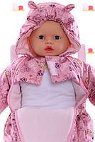 Демисезонный комбинезон для новорожденного (0-6 месяцев) Розовый беби, фото 4