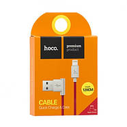 Кабель Hoco UPL11 L shape changing cable for Lightning Red, фото 2