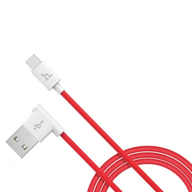 Кабель Hoco UPM10 L shape changing cable for Micro USB Red