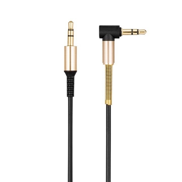 Кабель Hoco UPA02 AUX Spring Audio cable Black